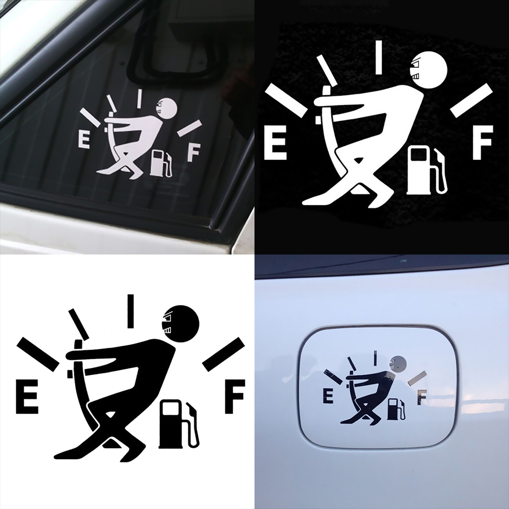 Car Accessories Reflective Cute Oil Shortage Car Body Styling Sticker Removable Waterproof in Car Stickers from Automobiles Motorcycles