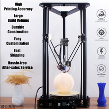 цена на Smart Leveling Delta 3D Printer Sinis T1 Touch Screen T1 Plus with Laser Head for Education Office Home Use Free 10m Filament