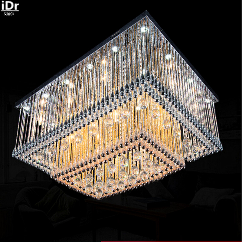 Us 398 0 50 Off Shimmering Crystal Ceiling High Grade Light Living Room Lamp Led Crystal Square Hotel Bedroom Home High Ceiling Ceiling Lights In