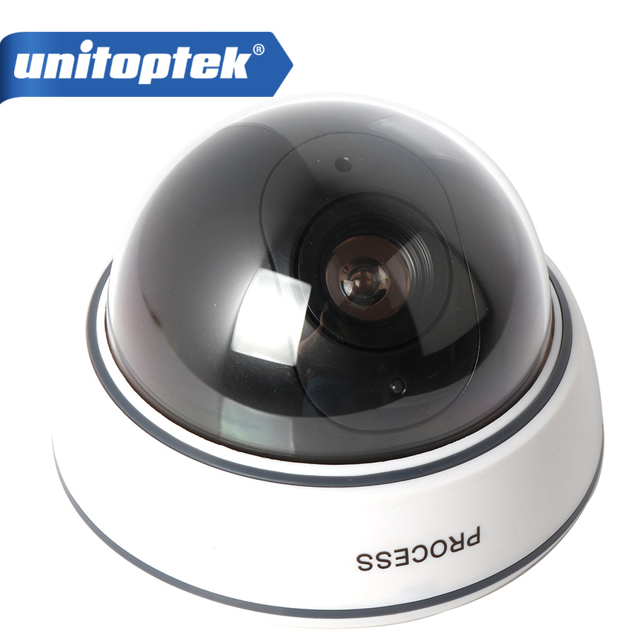 Dummy Camera Fake Outdoor Indoor Weatherproof Fake Surveillance Camera Dome CCTV Security Camera Flashing Red LED Light waterproof dummy cctv camera with flashing led for outdoor or indoor realistic looking fake camera for security