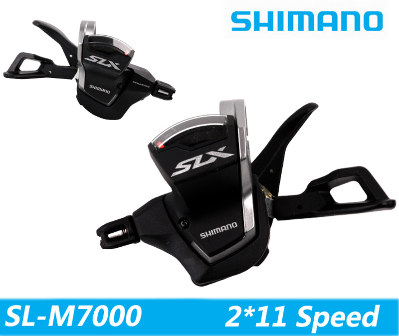 <font><b>SHIMANO</b></font> <font><b>SLX</b></font> <font><b>M7000</b></font> conjoined DIP with brake handle 1/2*11 speed bicycle derailleur MTB bike road cycling thumb Shifter image