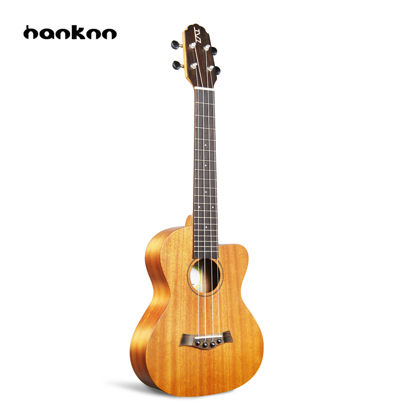 Hanknn 23 inch Mahogany Ukulele Concert 4 Strings Straight-angle Hawaii Guitar Ukelele Professional Musical Instruments Unisex niko black 21 23 26 ukulele bag silver edge nylon soprano concert tenor soft case gig bag 5mm thick sponge