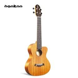 Hanknn 23 pouce Acajou Ukulélé Concert 4 Cordes Droite-angle Hawaii Guitare Ukulélé Professionnel Musical Instruments Unisexe
