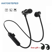 Magnetic Attraction Bluetooth Earphone Sweatproof Sport Headphone 4.2 with Build-in Mic Headset Hands free