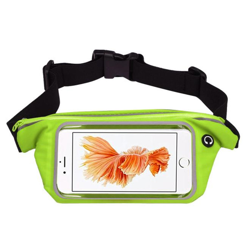 Outdoor Sports Running Waist Bag Utility Gym Fanny Pack Fitness Jogging Belt Bags 5.5 inch Cell Phone Pocket for Men Women #2a (28)