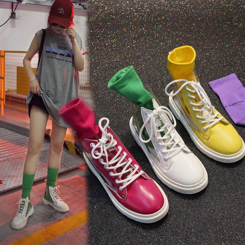 Achetez Vente Lots Boots Colored À En Transparent Des Gros Galerie F1qYHwF