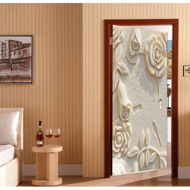 Autocollant Auto Adhsif Mur Peinture Porte Papier Peint En Relief
