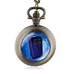 Новое поступление Мода телевидения Доктор Кто Тардис Полиции Коробка Цепочки и ожерелья кварцевые карманные часы Подвески
