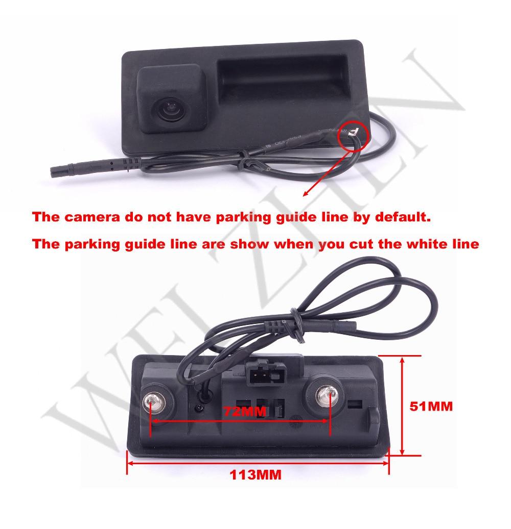 HD rəngli CCD avtomobili Arxa görünüşlü idarəetmə VW pass / - Avtomobil daxili aksesuarları - Fotoqrafiya 4