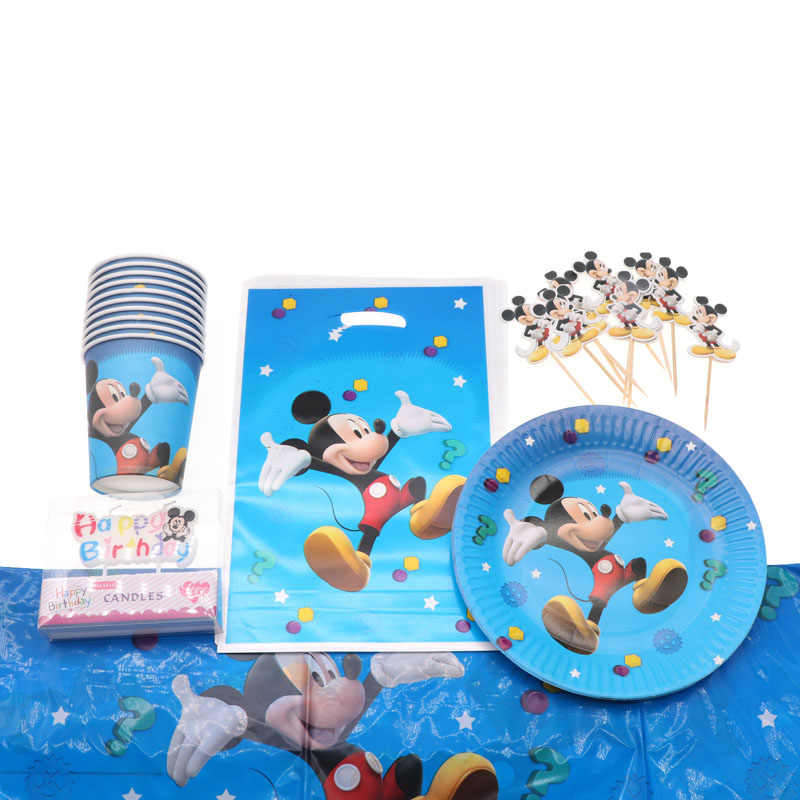 Mickey Mouse Theme Baby Shower Birthday Party Decoration Boys Children Party Disposable Tableware Party Supplies Home Decoration