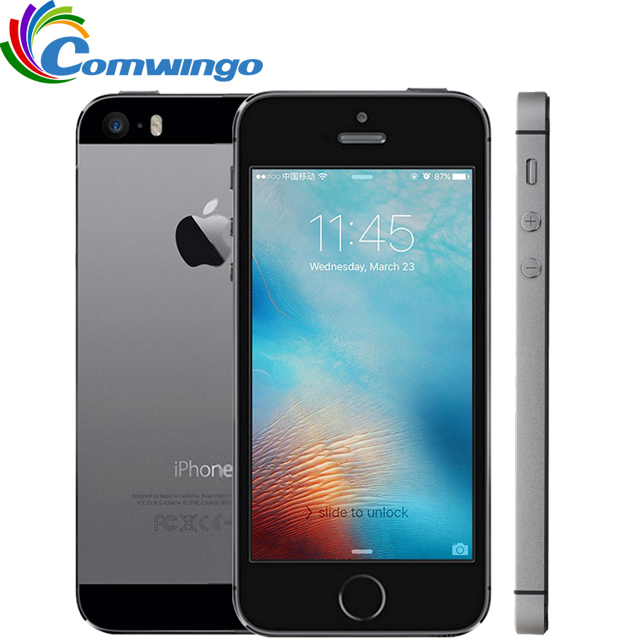 Original desbloqueado apple iphone 5S 16 gb/32 gb rom ios touch id impressão digital 4.0 aaa7 ips 4g iphone móvel 5S a1533/a1457 usado