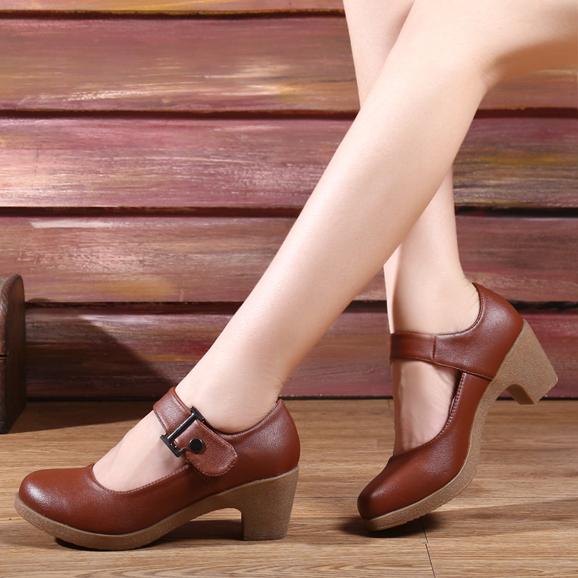 USHINE Brown/black/red/White Heel 6 Cm Indoor /outdoor Exercises Teacher Shoes Ballroom Square Dance Sneakers Shoes For Woman