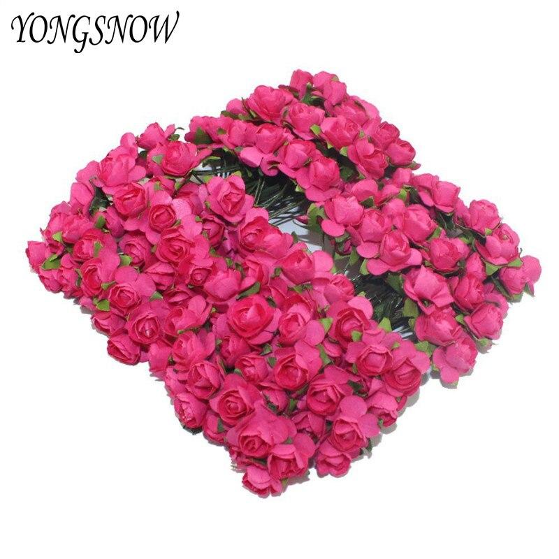 2 cm Multicolor Cabeza de Papel Artificial Flores Color de Rosa de Regalo Artesa