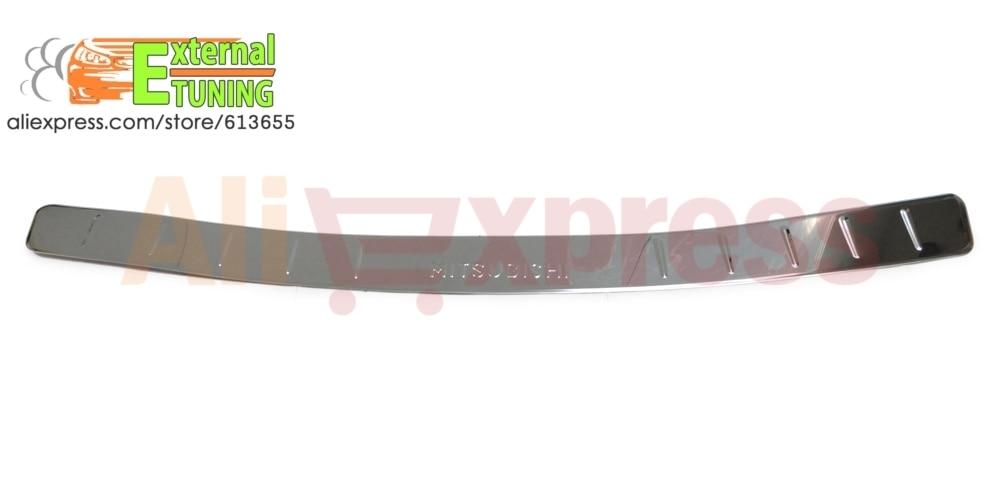 Prix pour Pad sur pare-chocs arrière pour Mitsubishi Outlander 2007-2013 Acier Inoxydable Car styling moulage tuning accessoires chrome décoration