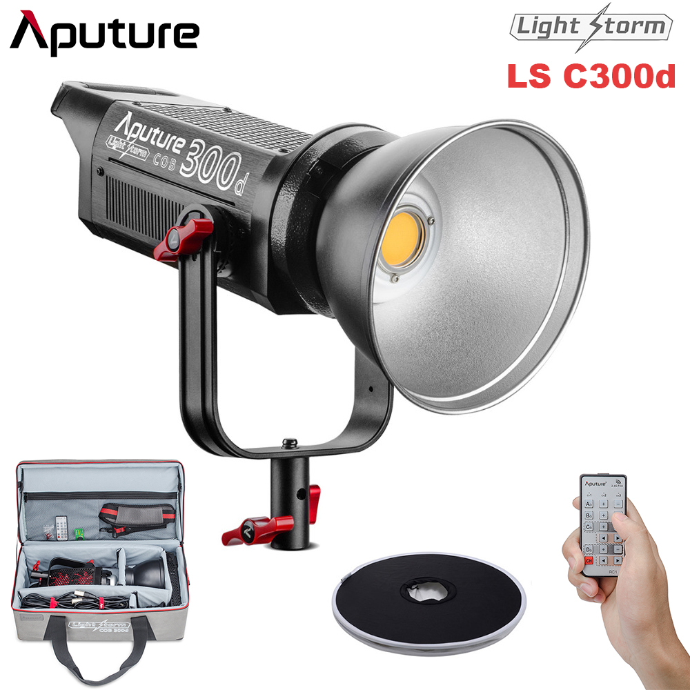 Aputure COB LS C300D 300W 5500K Daylight Balanced LED Video Light CRI95+ TLCI96+ Bowens Mount Remote Aputure Space Light aputure ls c300d cri 95 tlci 96 48000 lux 0 5m color temperature 5500k for filmmakers 2 4g remote aputure light dome mini