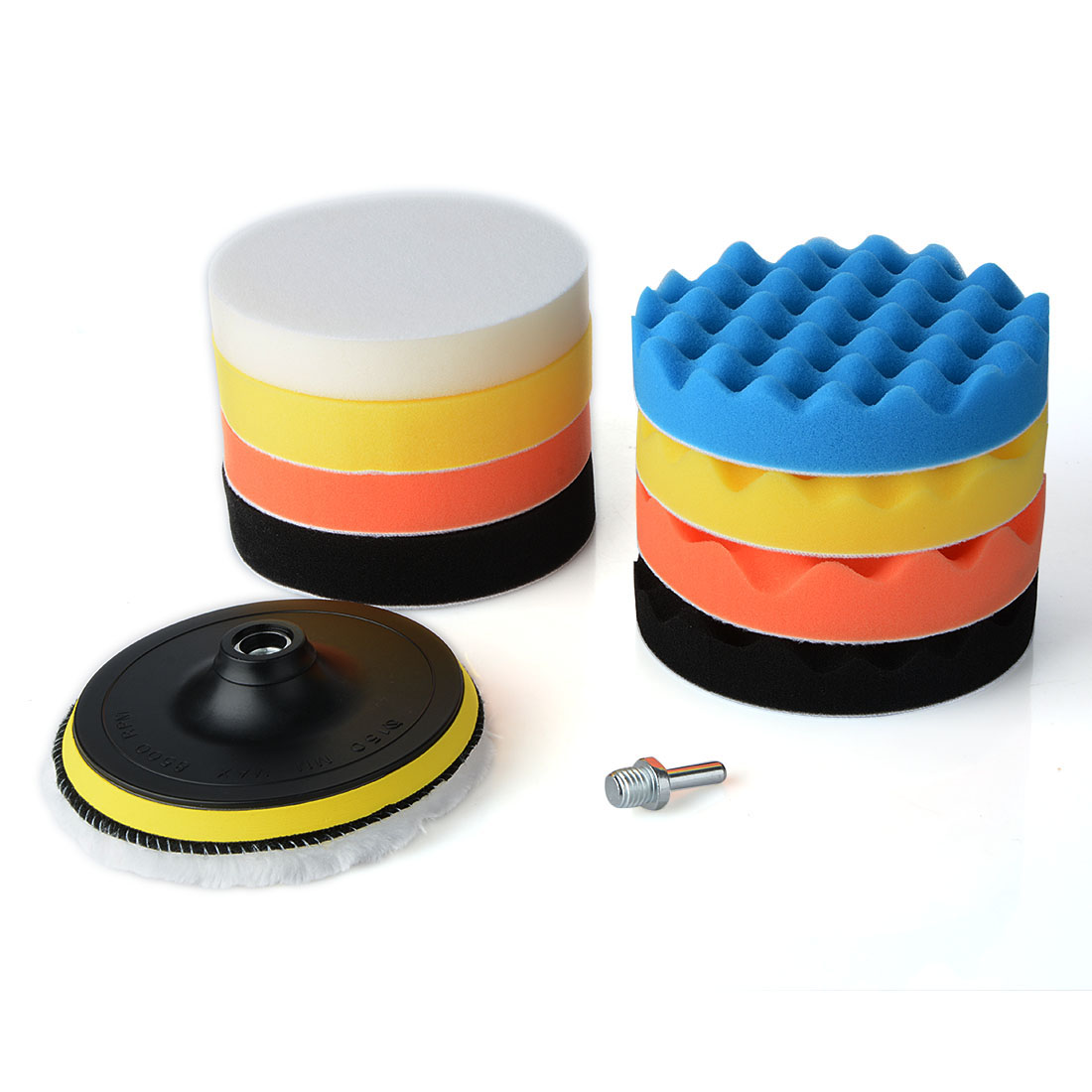 11Pcs 6 inch Sponge Woolen Buffing Pad Auto Car Polishing Wheel Kit With M14 Drill Adapter polishing buffing pad kit for car polishing with m10 thre drill adapter buffing pad kit auto truck boat polisher tools 4 stypes