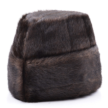Male Autumn Solid Thicken Bomber Hats Man Winter Imitation F