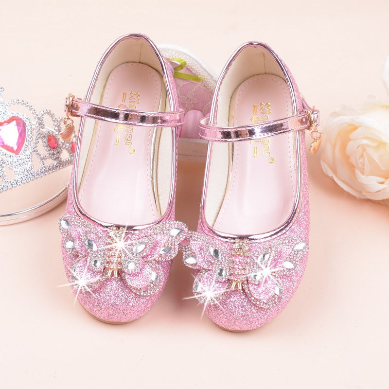 HITOMAGIC Girls Shoes Princess Children Shoes For Girls Sandals Kids Summer  Footwear Wedding Pink High Heel Bowknot Leather Shoe-in Sandals from Mother  ... e2147eea9532