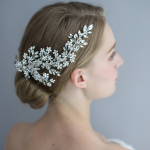 Image 2 - Exquisite Rhinestone Headband Clip Wedding Hair Accessories Bride Headband Floral Hair Vine Garland Luxury Crystal Headband