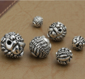 Vintage 925 silver Wealth Pixiu Beads sterling silver Piyao beads jewelry diy beads good luck beads