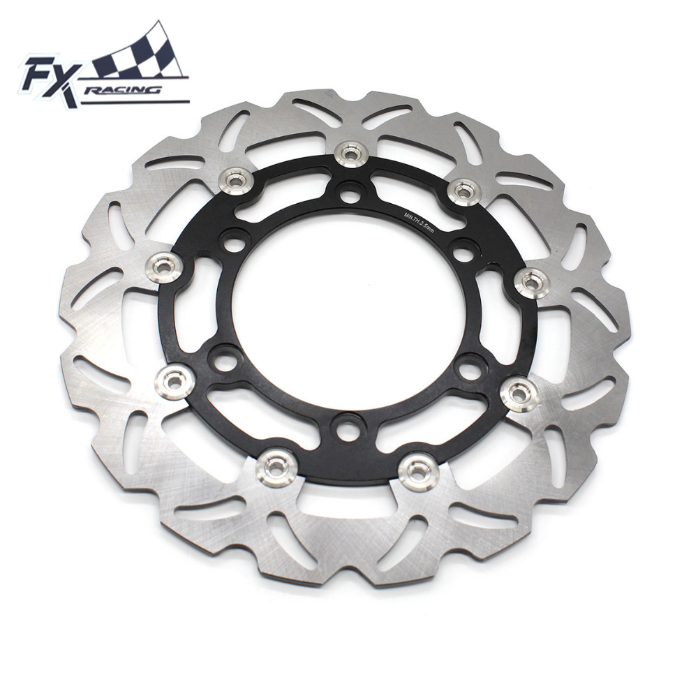 FX  Motorcycle 280mm Floating Front Brake Disc Rotor For Honda CBR150R 2000-2003 Aluminum+Stainless Steel Accessories mfs motor motorcycle part front rear brake discs rotor for yamaha yzf r6 2003 2004 2005 yzfr6 03 04 05 gold