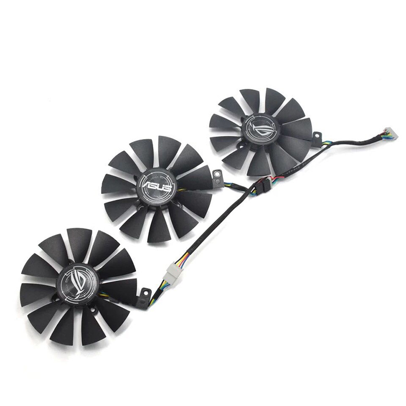 3pcs/set for ASUS T129215SU SM Graphics card fan GTX980TI/1060/1070/1080/R9 390 new everflow cooler fan replacement for asus strix rx470 rx460 gtx980ti r9 390 390x gtx 1070 1080 graphic card cooling fan