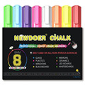 8 Color Liquid Chalk Markers - Bright Neon Liquid Chalk Premium Artist Quality Marker Pen Set