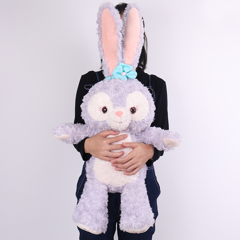 Large Size New Cartoon Stellalou Bunny Rabbit Plush Toys Friend of Duffy Bear Big Soft Stuffed Animal Dolls For Kids Girls Gifts каталки pilsan bunny friend