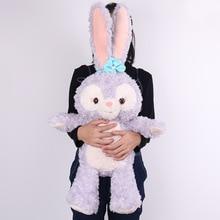 Large Size New Cartoon Stellalou Bunny Rabbit Plush Toys Friend of Duffy Bear Big Soft Stuffed Animal Dolls For Kids Girls Gifts