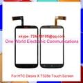 1 шт./лот 4.0 ''Черный Новый Для HTC Desire X T328e Touch экран Дигитайзер Сенсорная Панель Переднее Стекло Объектива Бесплатная Доставка Слежения код