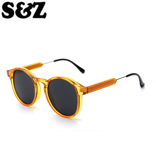 a9af0a00f109 Fashion Sunglasses Women Men Brand Designer Champagne Color Retro Round Eye  Glasses Male Female Hot Sale