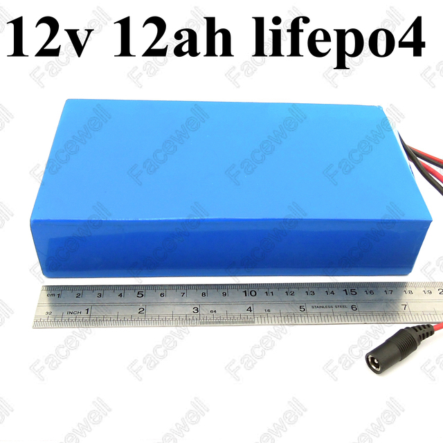 12ah lifepo4 12v battery dc power supply 12v 10Ah portable motorcycle battery pack 30A high discharge for e-scooter + 3A charger