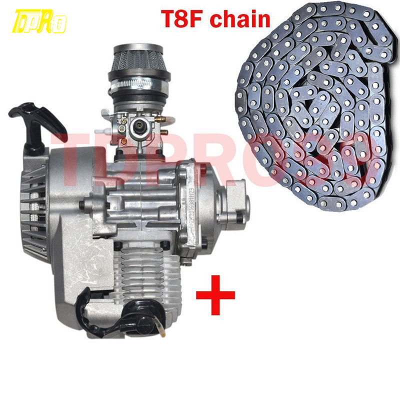 43cc 47cc 49CC Racing ENGINE MOTOR POCKET MINI BIKE SCOOTER ATV + T8F Chain 2 stroke ignition coil for 33cc 43cc 47cc 49cc 50cc pocket dirt bike atv scooter