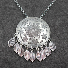 925 Sterling r Silver Necklace Pendant Chain Thailand folk style sweater wholesale female