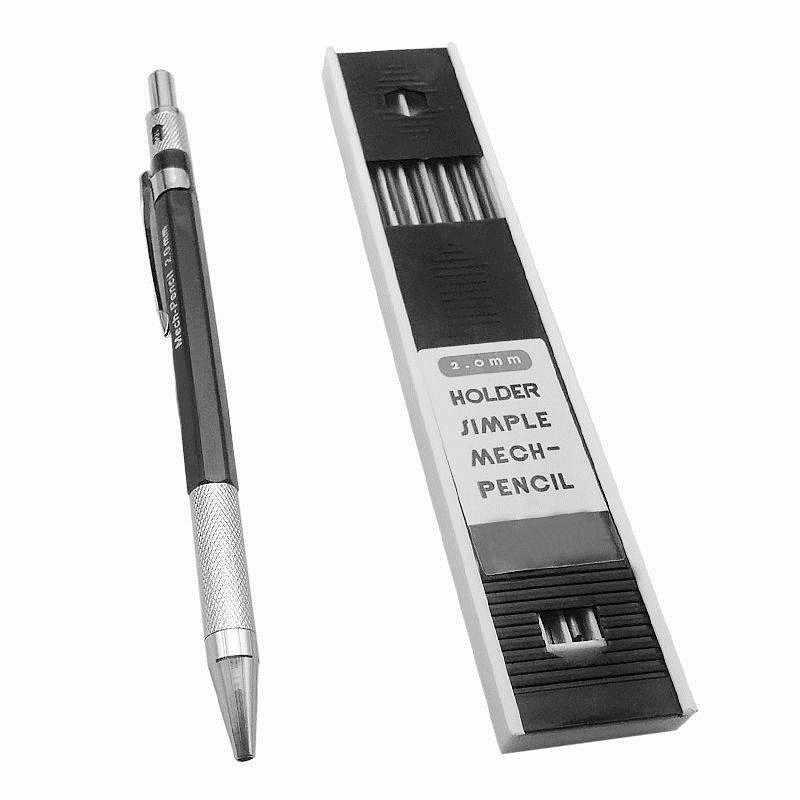 2.0mm Houder Eenvoudige Mech-Automatische potlood Vulpotlood Tekening Opstellen Schrijftafeltje Kleur Willekeurig