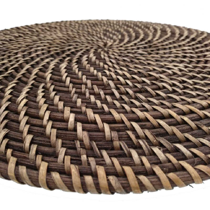 37cm Large Rattan Placemat Drink Coasters Table Mat Round Trivets For Hot Dishes Insulated