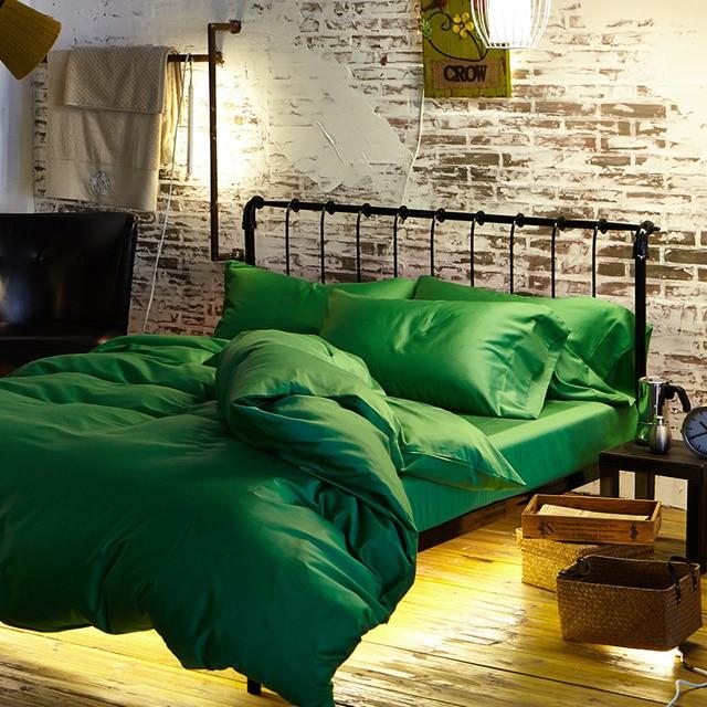 Grün 100 ägyptischer Baumwolle Bettwäsche Blätter Luxus König Queen