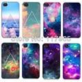 Brillante Colorido Nube Cielo Espacio Ultraterrestre/Universo Triángulo de Plástico Duro Teléfono case para apple iphone 4 4s/5 5s case EC003