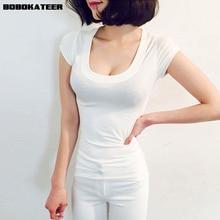 BOBOKATEER белая футболка женская футболка femme женские летние топы camisetas mujer из хлопчатобумажной ткани, раздел-футболки женские футболка s