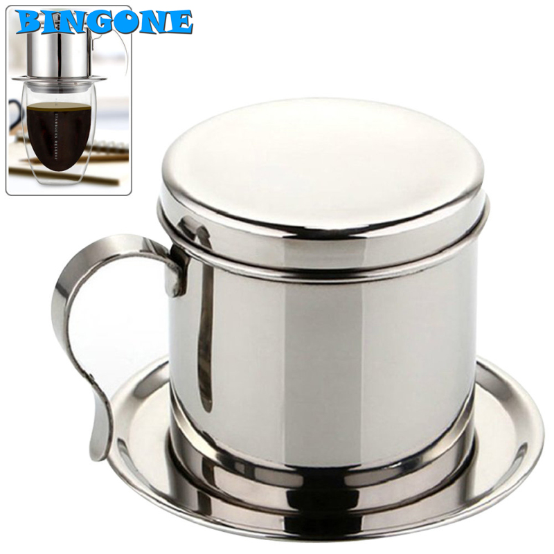 Portable Drip Coffee Maker : High Quality Stainless Steel Vietnam Coffee Filter Portable Office Coffee Maker Drip Dripper Pot ...