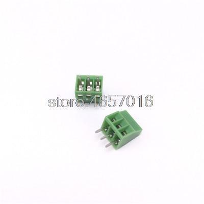 red and Black Selectable - 20 PCS KF301-2P 3P Screw 5.0mm Terminal Block 2 Pin 3 Pin PCB Terminal Block Connector Blue Color: Black 3P 20pcs Davitu Terminals Green