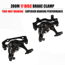 цена на ZOOM Bike Brake Mechanical Caliper Aluminum Bicycle Disc Brake Bilateral Drive Disc Brake Line Pulling Hydraulic Disc Brake