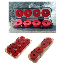 OOTDTY 8/16Pcs Foam Winding Board Fishing Line Shaft Bobbin Spools Tackle Box Red Lines  for fishing