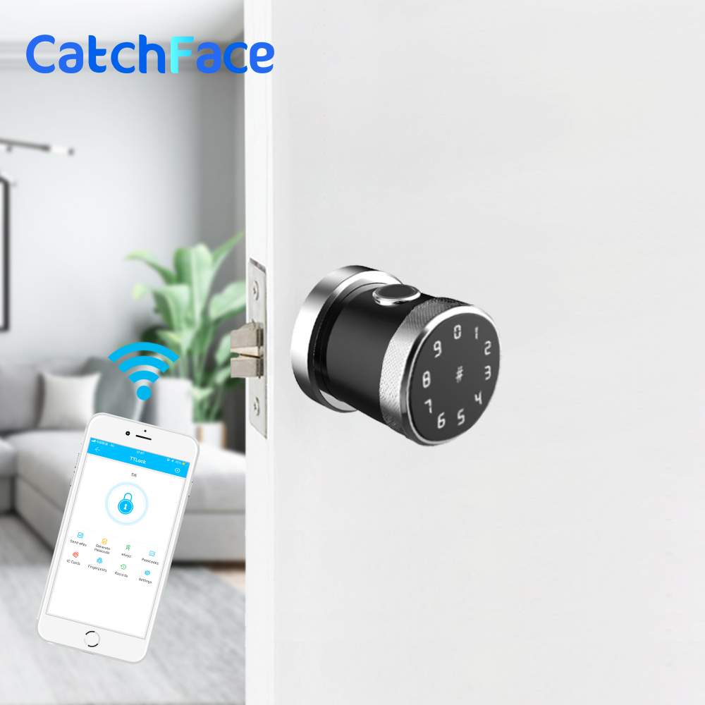 Image 3 - Keyless Security Electronic Fingerprint Door Lock  App Wifi Door Lock Smart  Bluetooth  Door Lock  For Home Apartment-in Electric Lock from Security & Protection
