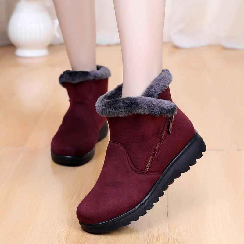 a7a76ee39 Новая женская обувь, зимние сапоги, 2018 Модные женские ботильоны на  молнии, женская обувь