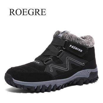 Men Boots Winter With Fur 2019 New Warm Snow Boots Men Winter Boots Work Shoes Men Footwear Rubber Ankle Shoes Sneakers 39-48
