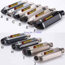 Carbon Exhaust with Motorcycle
