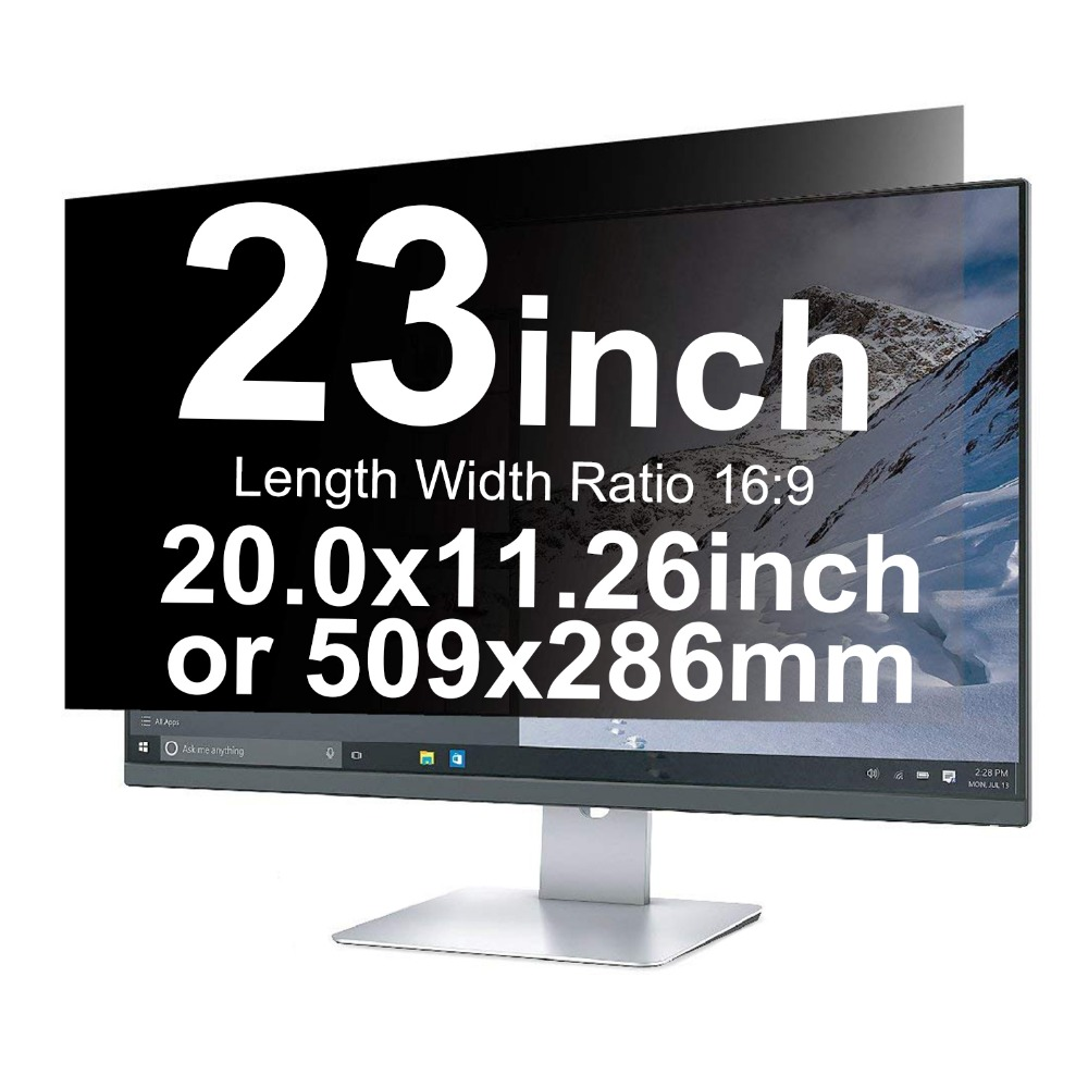 YOSON 23 inch 16:9 Display Filter 20x11.26in/509x286mm Widescreen Privacy Filter Privacy Screen Film Protection