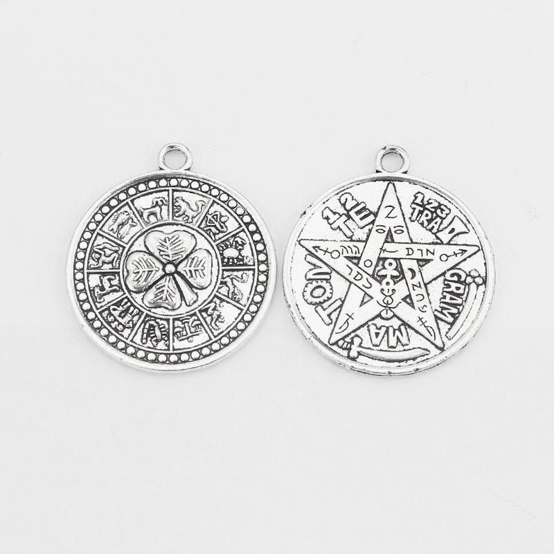 5pcs Large Tibetan Silver Open Spiral Swirl Charms Pendants Jewelry Findings