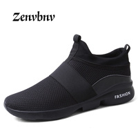 ZENVBNV Comfortable Top Quality Men S Casual Shoes Men Spring Autumn Style Stretch Fabric Flats For